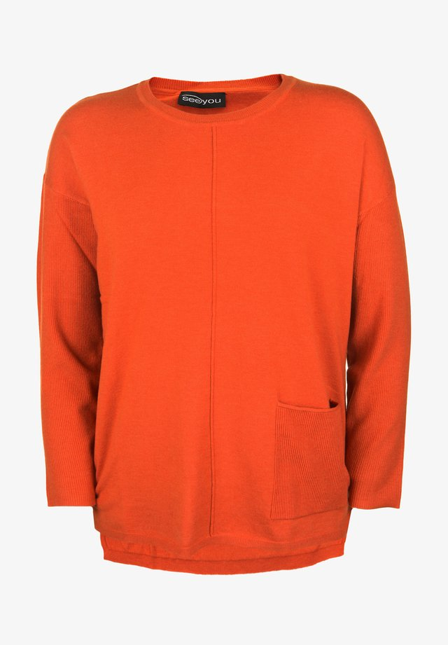 MIT RUNDHALSAUSSCHNITT - Sweatshirt - melone