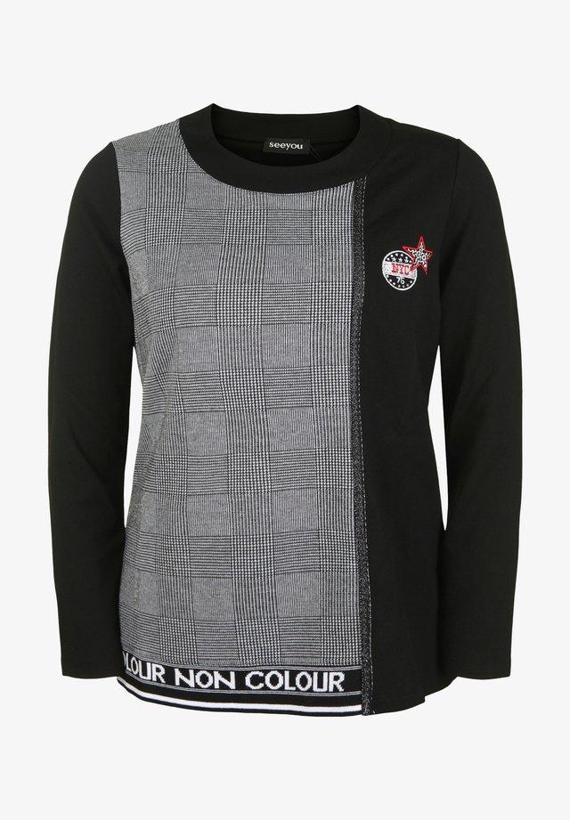 MIT MUSTER - Sweatshirt - schwarz