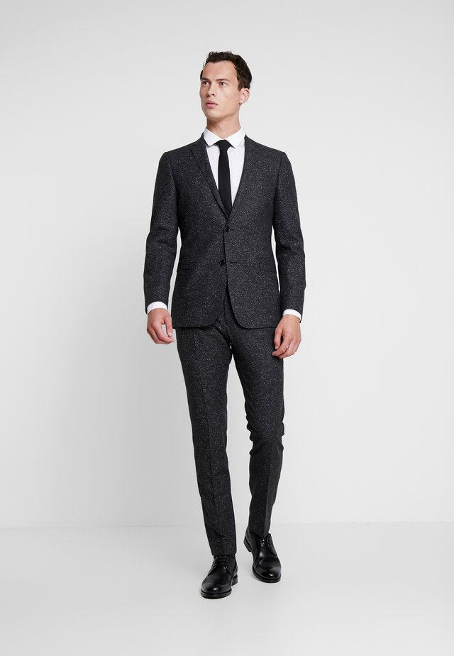 CALE MADDEN - Dress - mottled dark grey