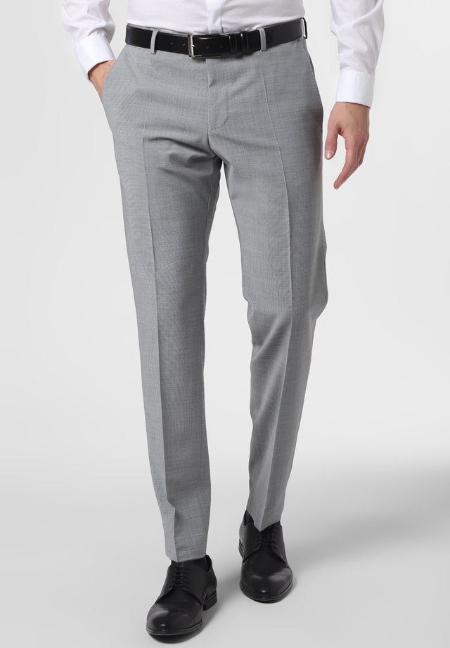 BAUKASTEN-HOSE - Suit trousers - grau