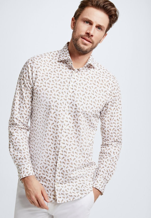 SERENO - Shirt - white/beige