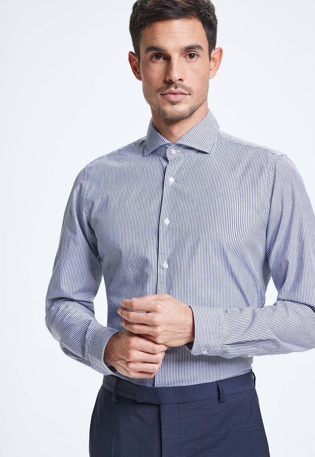 SERENO - Formal shirt - dark blue/white