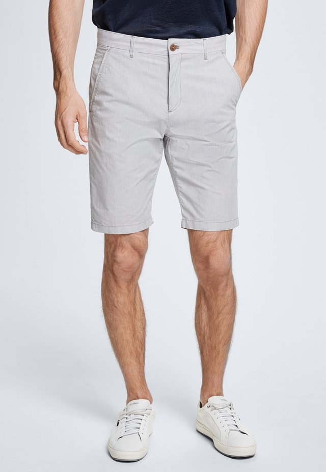 CRUSH - Shorts - grau/weiß gestreift