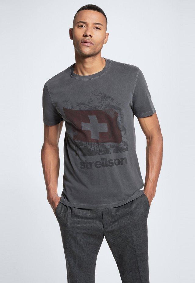 Print T-shirt - medium grau