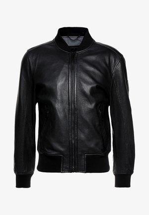 CAMDEN - Leren jas - black