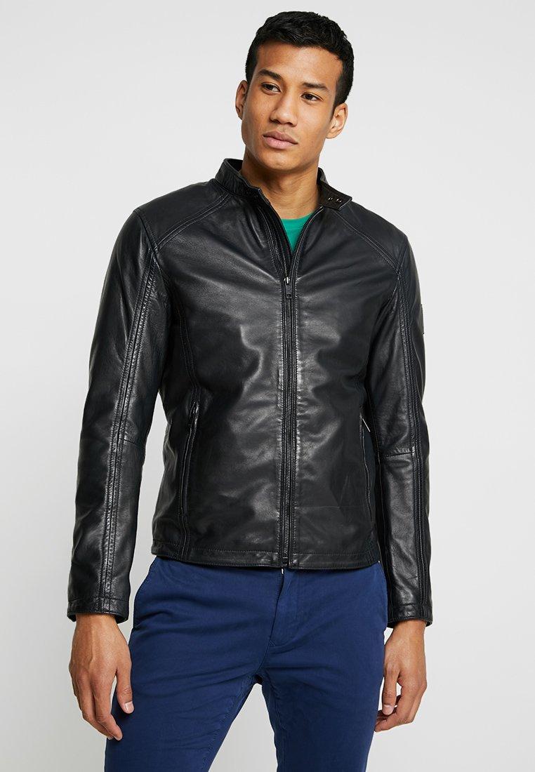 Strellson - MANSON - Leather jacket - dark blue