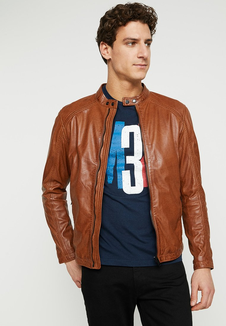 Strellson - MANSON - Leather jacket - brown