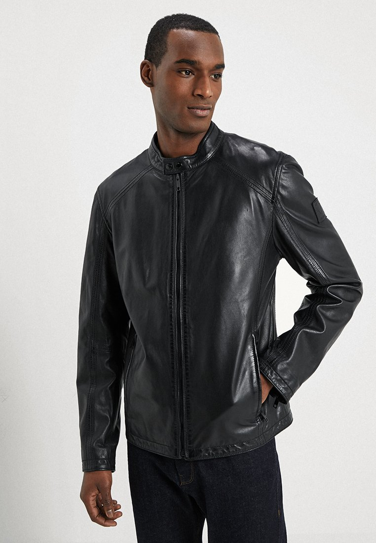 Strellson - MANSON - Leather jacket - schwarz