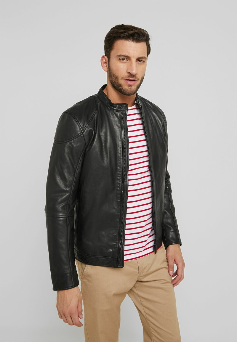 Strellson - NOXON - Leather jacket - black