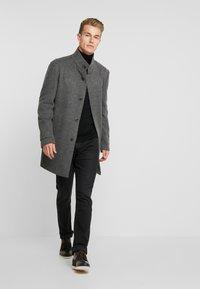 Strellson - Classic coat - mottled dark grey - 1