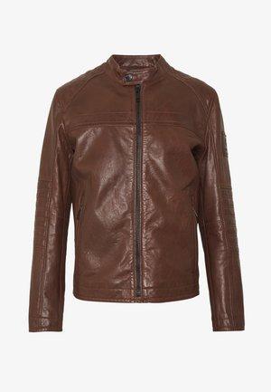 BRIXTON - Leather jacket - cognac