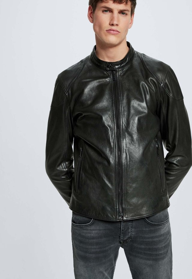 SYDNEY - Leather jacket - schwarz