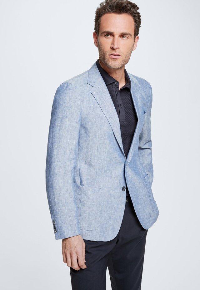 SAKKO ACON - Blazer jacket - medium blau meliert