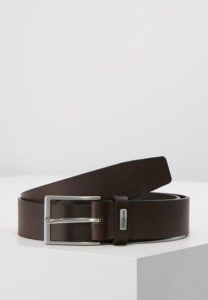BELT - Belt business - dark brown