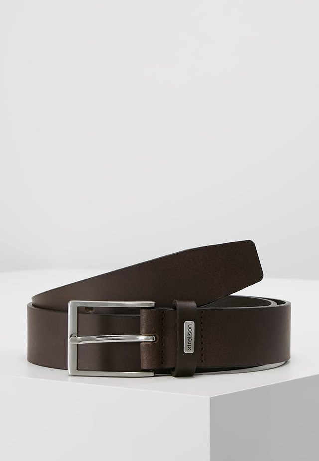 BELT - Pasek - dark brown