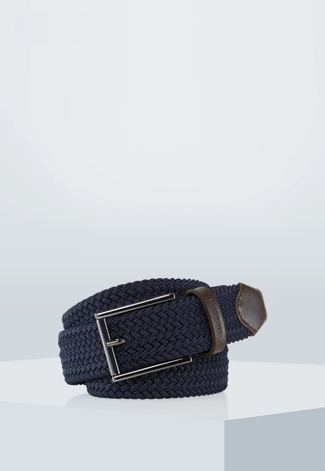 Braided belt - navy