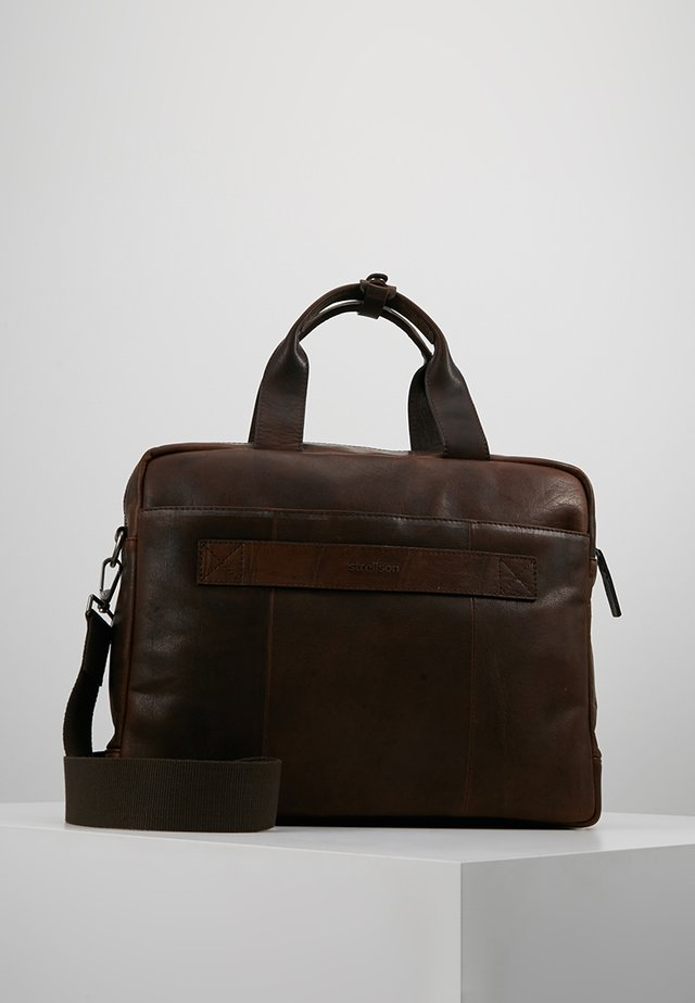 Briefcase - dark brown