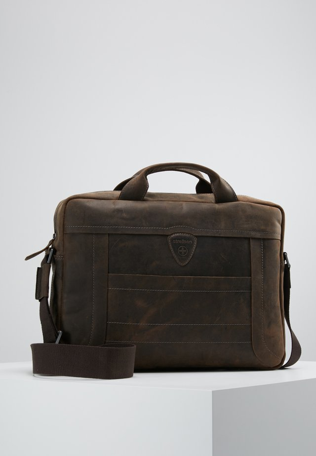 HUNTER BRIEFBAG - Aktetas - dark brown