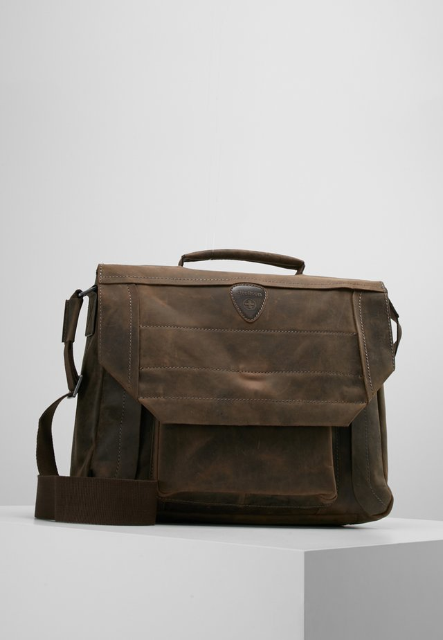 HUNTER BRIEFBAG - Laptoptas - dark brown