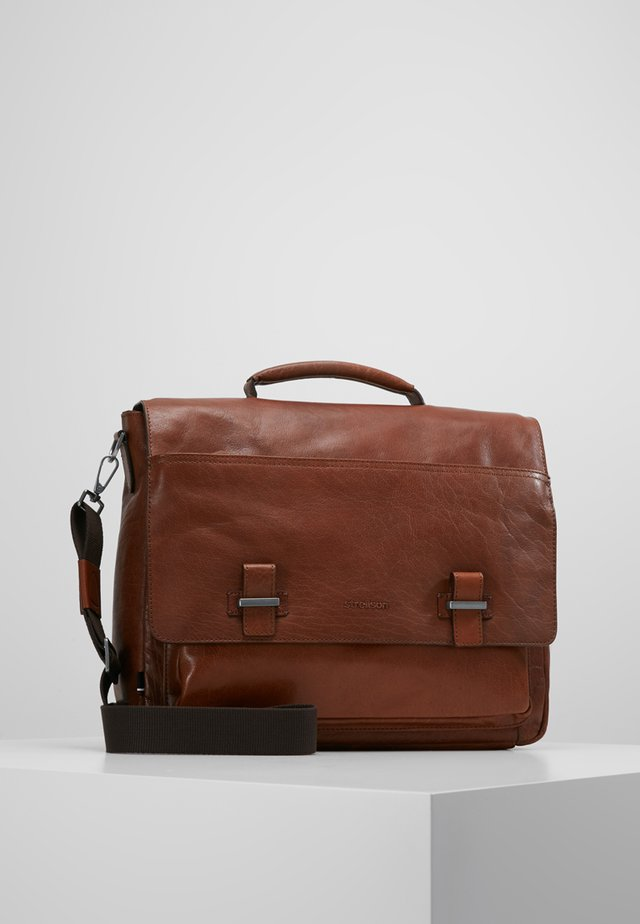 SUTTON BRIEFBAG - Laptoptas - cognac