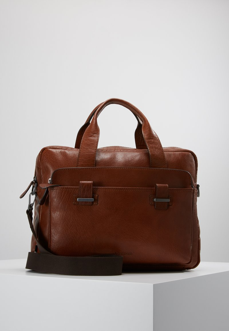 Strellson - SUTTON BRIEFBAG - Laptop bag - cognac