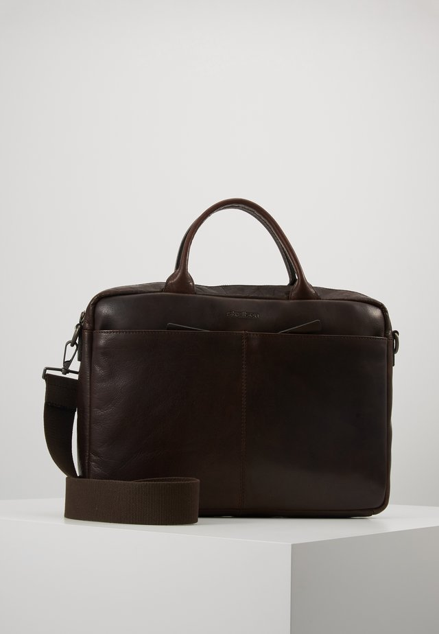 COLEMAN - Briefcase - dark brown