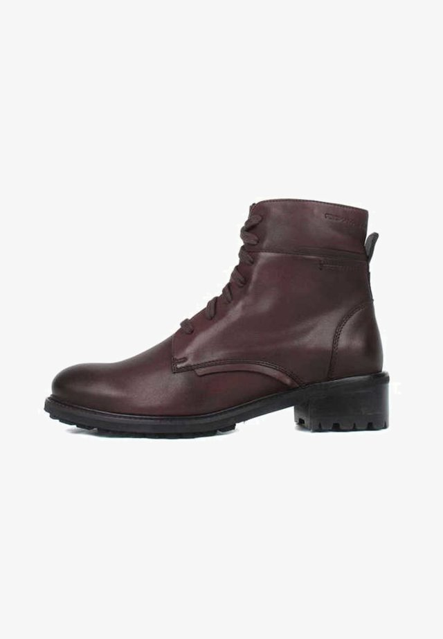 Lace-up ankle boots - blood