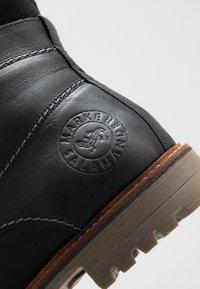 Salamander - HARROLD - Lace-up ankle boots - black - 5