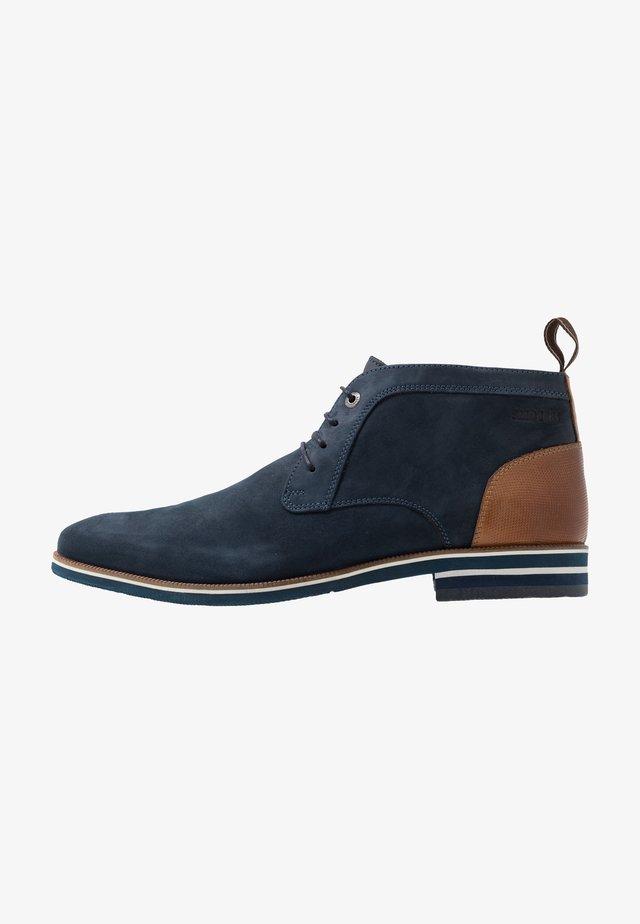 VALARIO - Volnočasové šněrovací boty - navy
