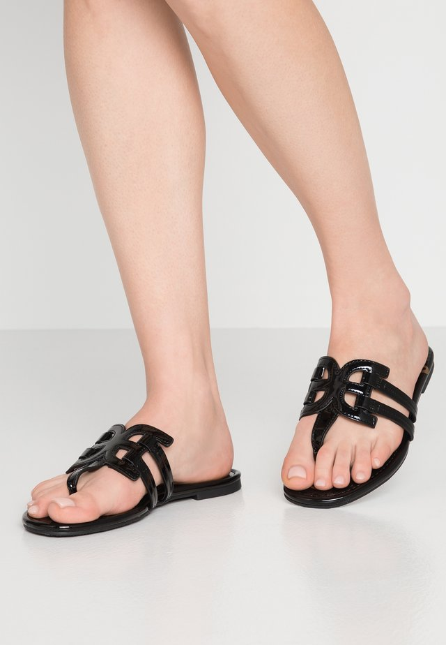 CARA - T-bar sandals - black