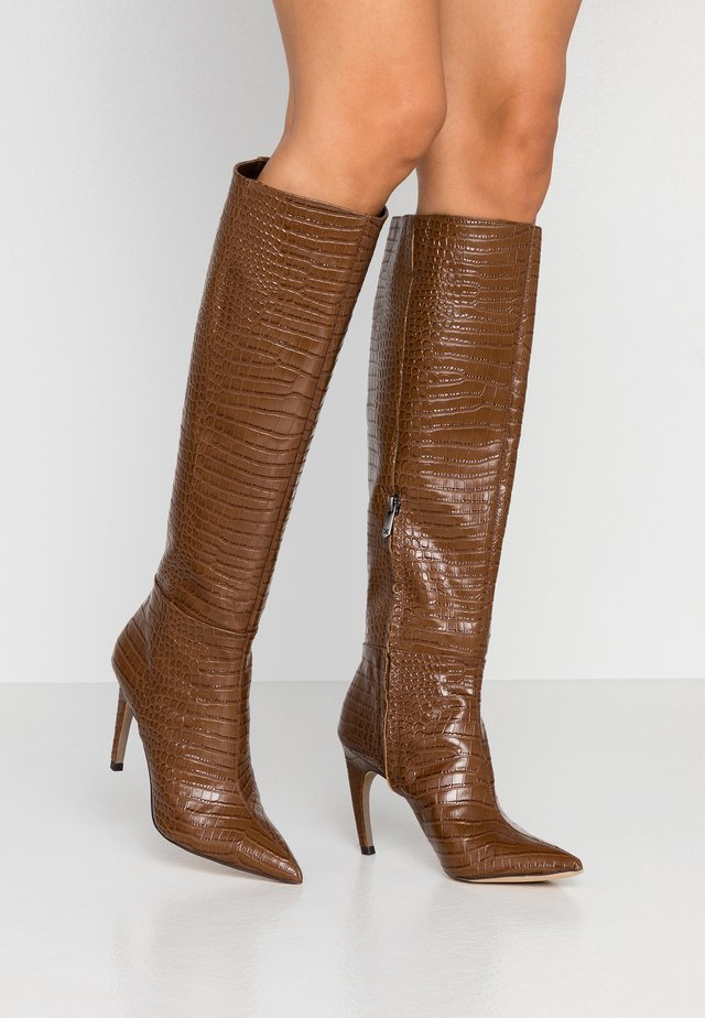 FRAYA - High heeled boots - toasted coconut