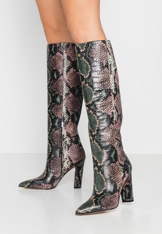 RAAKEL - Kozačky na vysokém podpatku - wintergreen