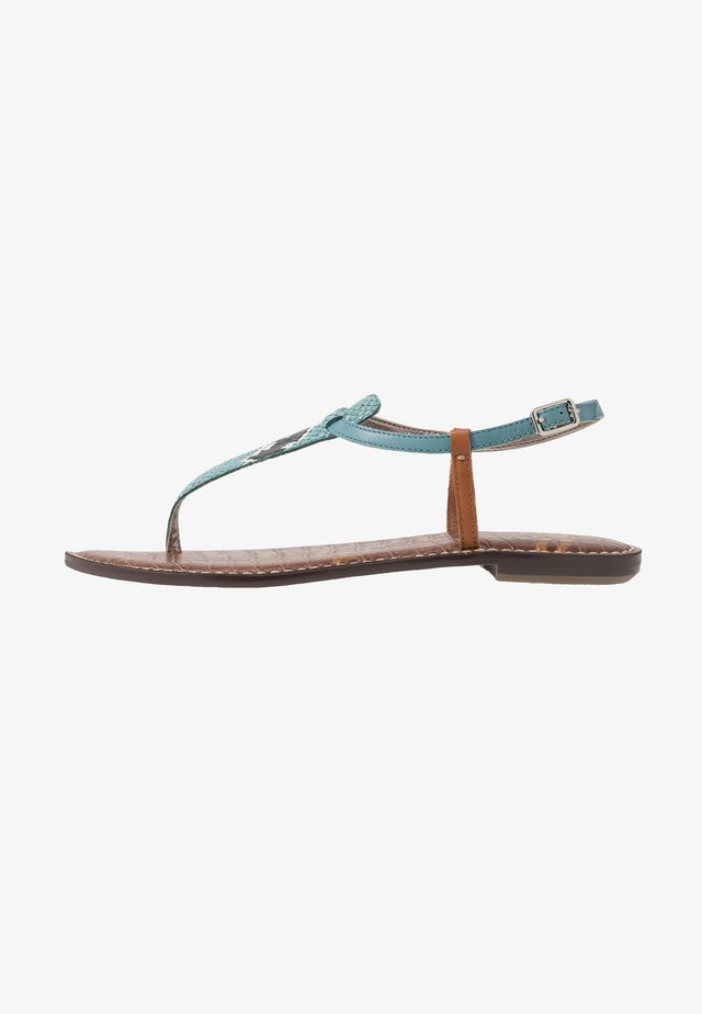 GIGI EXOTIC PRINT - T-bar sandals - blue sage