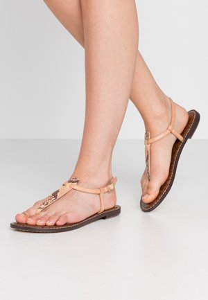T-bar sandals - blonde/multicolor