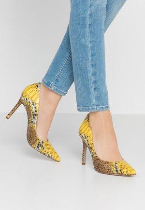 HAZEL - Zapatos altos - yellow/multicolor