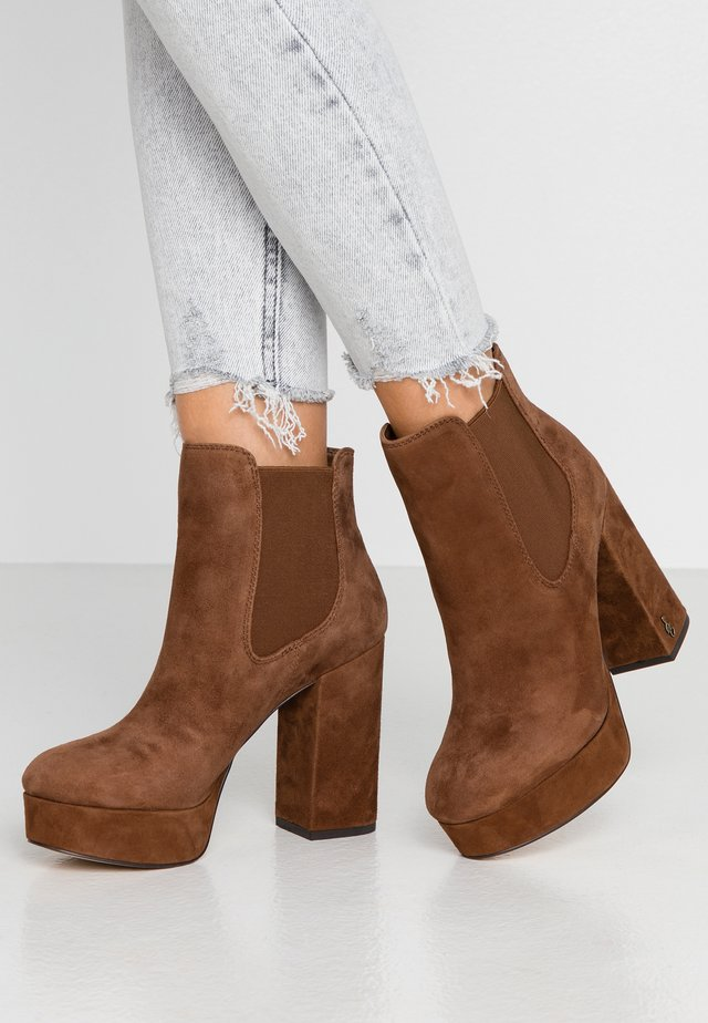 ABELLA - High heeled ankle boots - toasted coconut