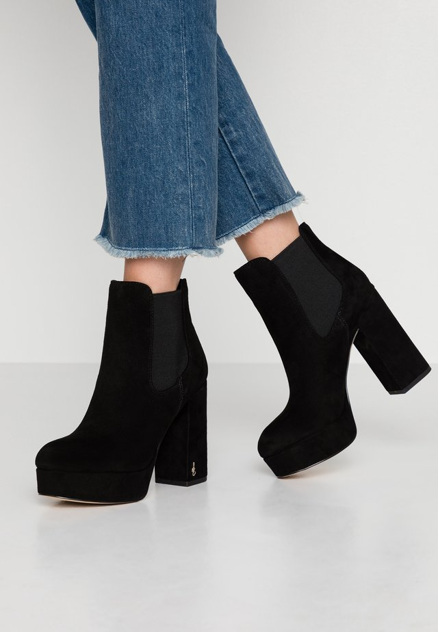 ABELLA - High heeled ankle boots - black