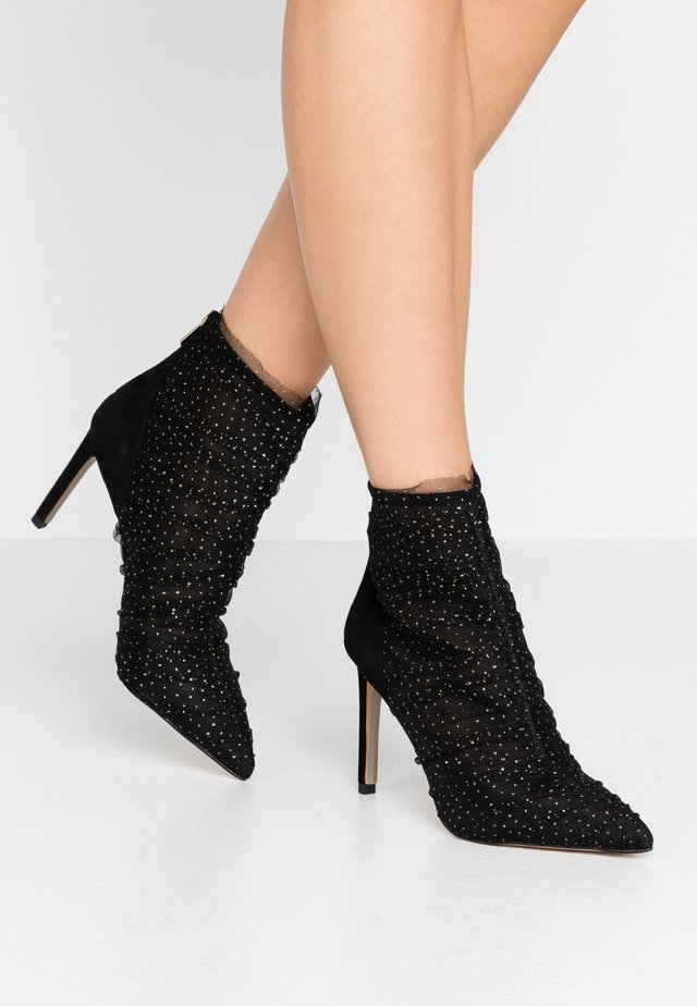 FARREN - High heeled ankle boots - black/gold