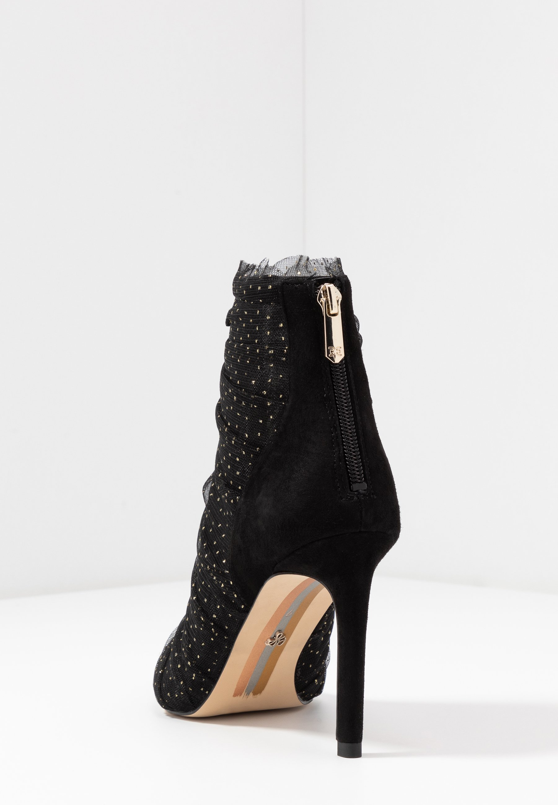 Sam Edelman FARREN - Bottines à talons hauts - black/gold