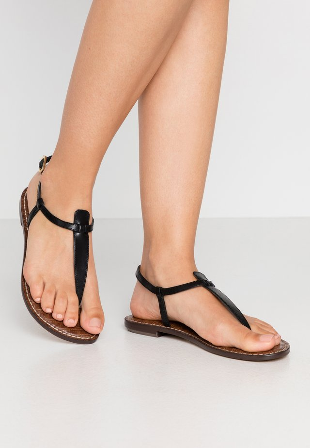 GIGI - T-bar sandals - true black