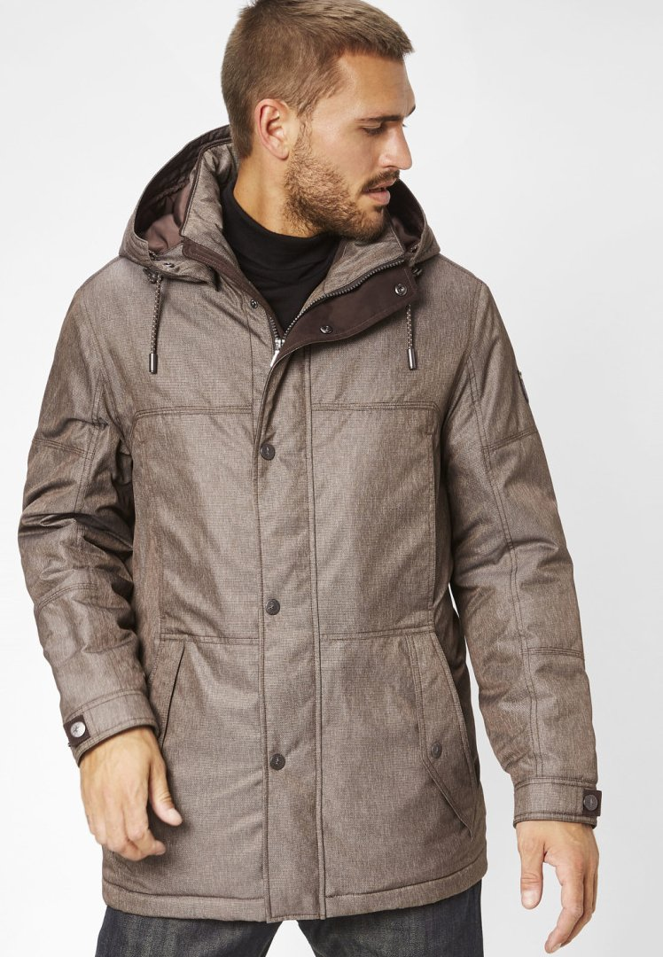 S4 Jackets - VITUS - Wintermantel - brown melange