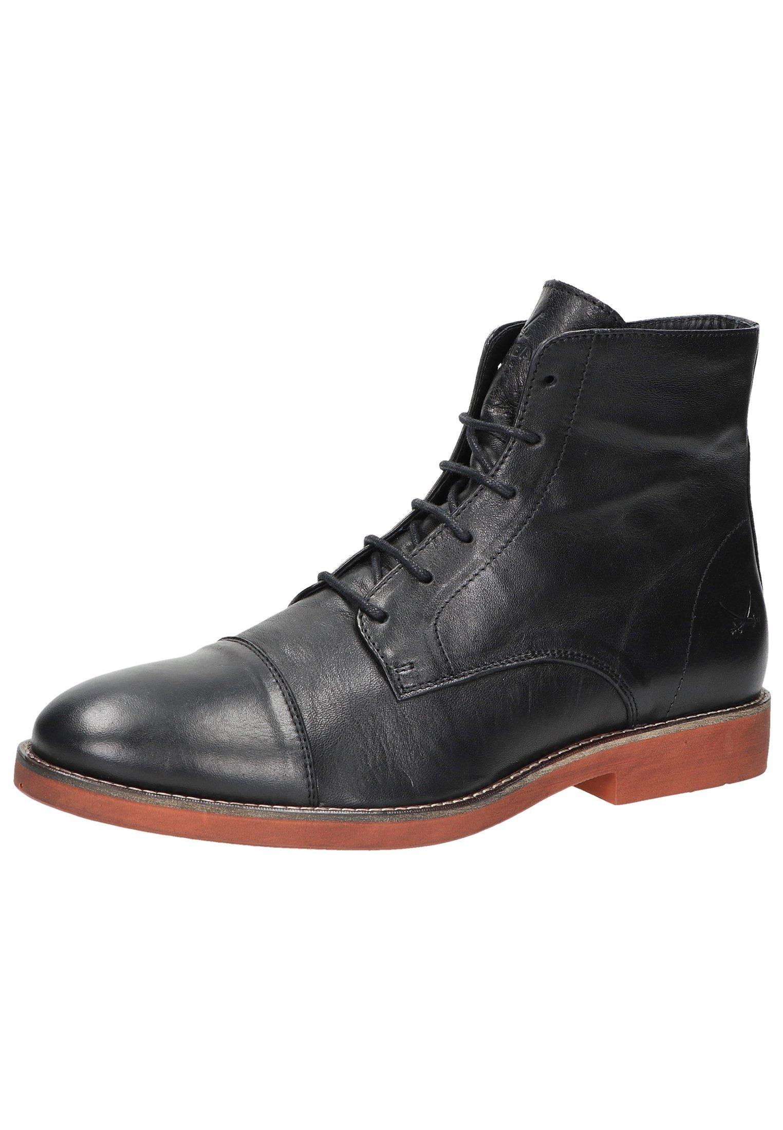 Sansibar Shoes Botki sznurowane - black