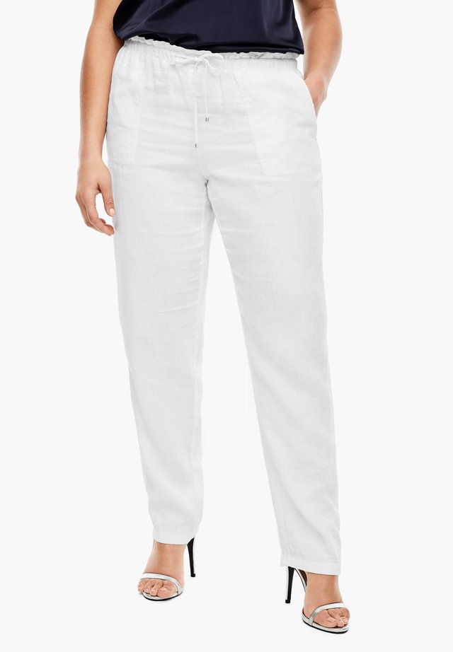 MIT TUNNELZUG - Trousers - white
