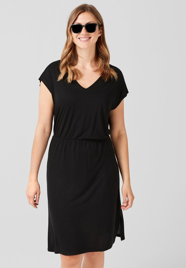 Jersey dress - mystic black
