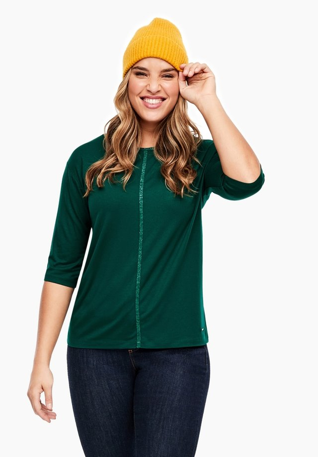 MIT GLITZER TAPE - Longsleeve - cool emerald