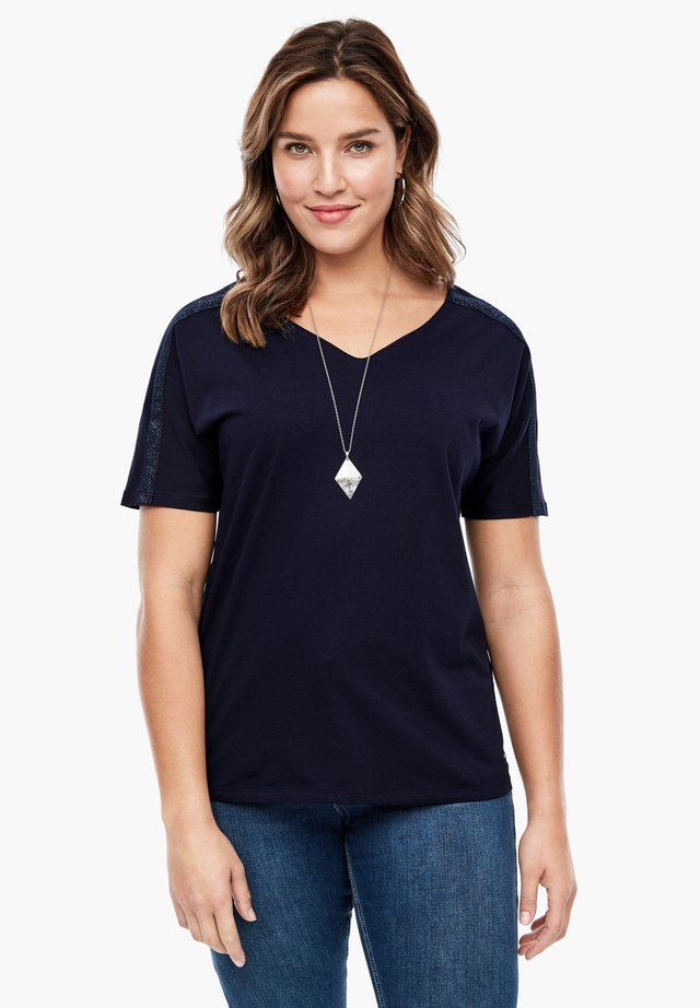 MIT GLITZERTAPE - T-Shirt print - navy