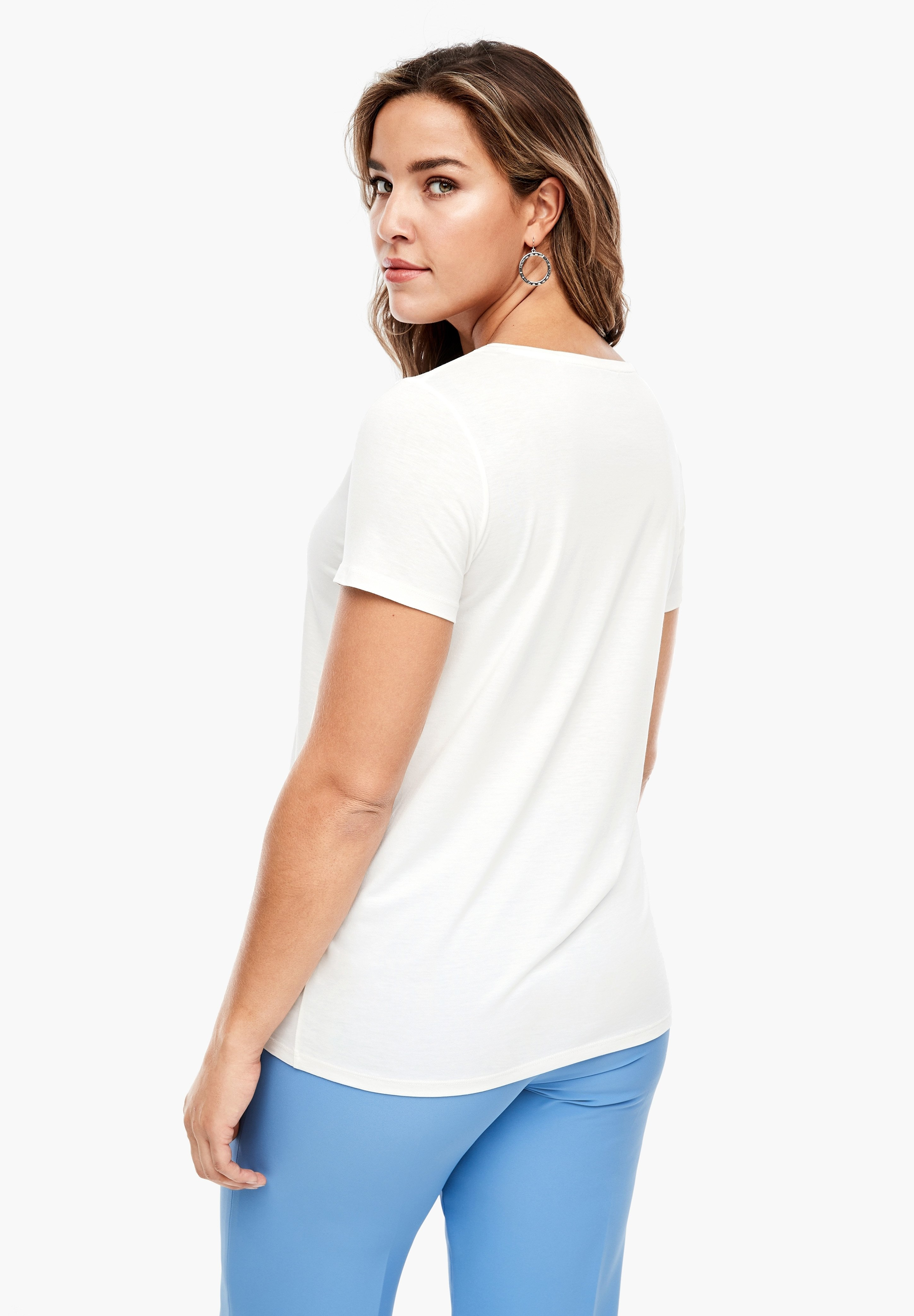 Triangle Print T-shirt - White Placed