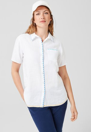 DE BRODERIES - Button-down blouse - white
