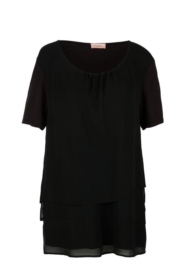 MIT LAYERING - Blouse - black