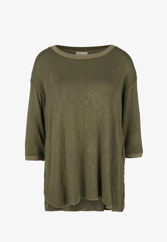 FLAMMGARN MIT GLITZER-DETAILS - Long sleeved top - khaki